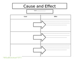 Cause and Effect Editable Graphic Organizer