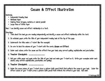 cause and effect essay lesson plans