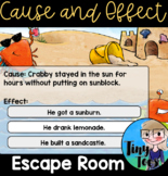 Cause and Effect Escape Room BOOM digital task cards for D