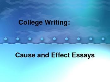 Teaching cause effect essays
