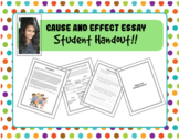 Cause and Effect Essays - Student Handout