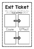 Cause and Effect Exit Ticket