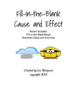Cause and Effect Fill-in-the-Blank