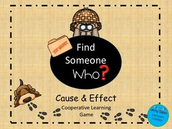 Cause and Effect: Find Someone Who Game