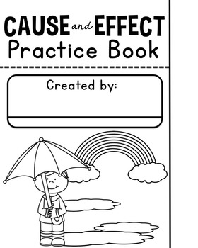 Cause and Effect Flip Book Practice