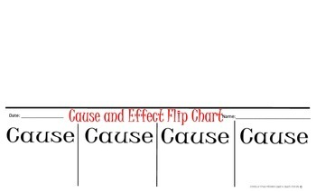 Cause and Effect Flip Chart