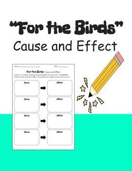 """Cause and Effect Flowchart and Writing Activity for PIXAR short, """"For the Birds"""""""