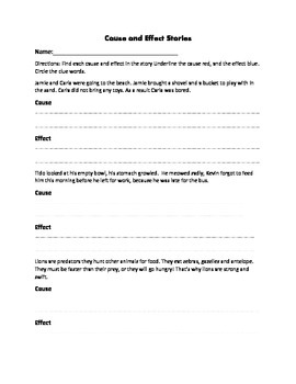 Cause and Effect Full Lesson Plan Differentiated, Guided Practice