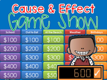 * Cause and Effect - Jeopardy style game show