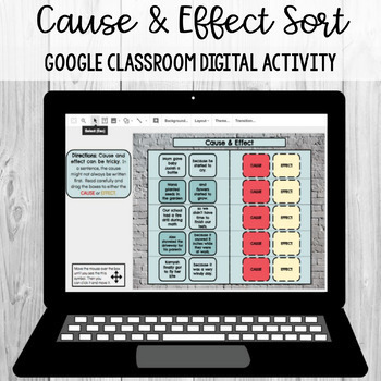 Cause and Effect: Google Classroom Digital Activity [SOL 4.5j]