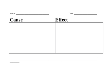 Cause and Effect Graphic Activity
