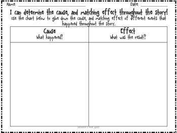 Cause and Effect Graphic Organizer