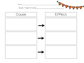 Striking image for cause and effect graphic organizer printable