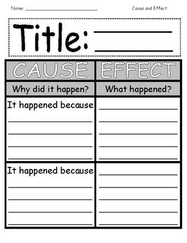 Cause and Effect Graphic Organizer Collection