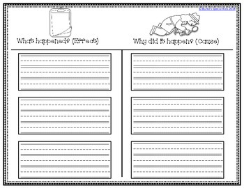 Cause and Effect Graphic Organizer Freebie