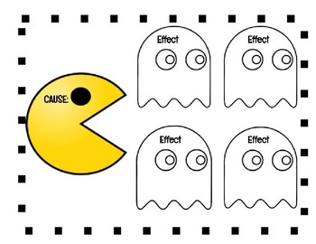 Cause and Effect Graphic Organizer! Pac-Man Fun!!