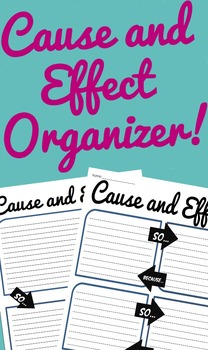 Cause and Effect Graphic Organizer Pack