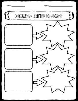 Cause and Effect - Graphic Organizer - Ready to Print