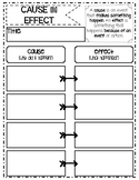 Cause and Effect Graphic Organizer-PDF & Digital PNGs