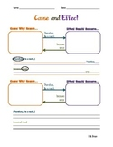 Cause and Effect Graphic Organizer for Literacy and ELLs