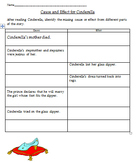 Cause and Effect Graphic Organizer using Cinderella- Common Core Aligned
