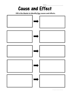 Cause and Effect Graphic Organizer w/Questions