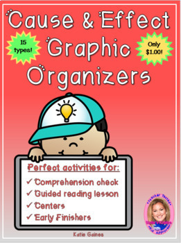 Cause and Effect Graphic Organizers- $1.00 ONLY!