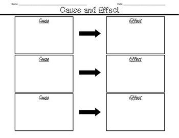 Cause and Effect Graphic Organizers