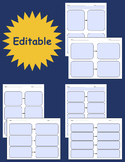Cause and Effect Graphic Organizers - Fillable & Editable