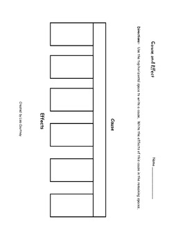 Cause and Effect Graphic Organizers - (reading / language arts) FREE
