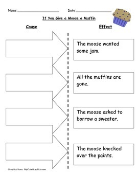 Cause and Effect - If you Give a Moose a Muffin