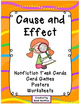 Cause and Effect Task Cards Activities