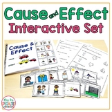 Cause and Effect Interactive Set - Adapted Book - Task Cards - Special Education