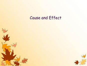 Cause and Effect Introduction