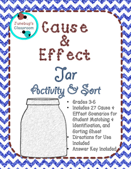 Cause and Effect Jar Activity & Match