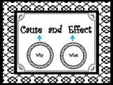 Cause and Effect Key Words Anchor Chart in The Madison Style