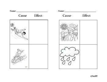 Cause and Effect Kindergarten Activity