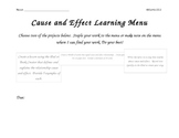 Cause and Effect Learning Menu