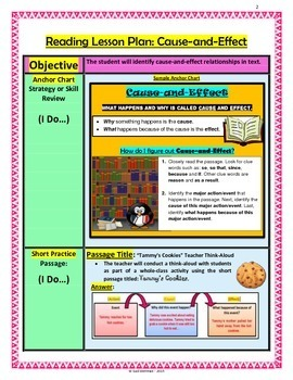 Cause-and-Effect Lesson Plan