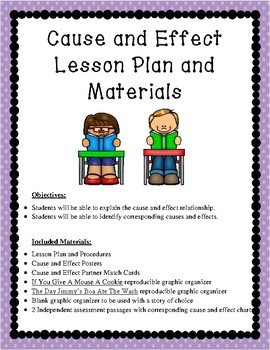 Cause and Effect Lesson Plan and Materials