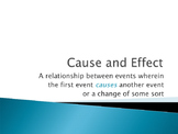 Cause and Effect Lesson and Practice