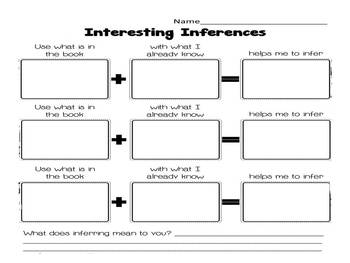 Inferencing Listening Center QR Codes with Graphic Organizer