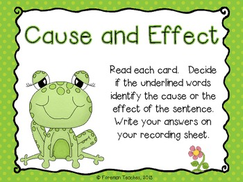 Cause and Effect Literacy A... by Foreman Teaches | Teachers Pay ...