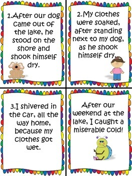 Cause and Effect Literacy Centers Activities for Reading Comprehension