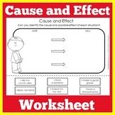 Cause and Effect   Worksheet Activity   Kindergarten 1st 2