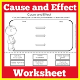 Cause and Effect Match Matching Worksheet