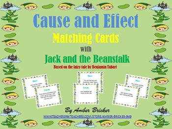 Cause and Effect Matching Cards with Jack and the Beanstalk