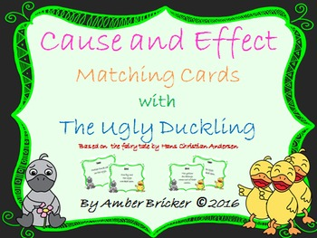 Cause and Effect Matching Cards with The Ugly Duckling