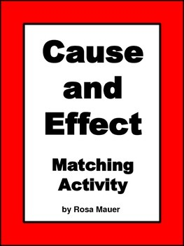 Cause and Effect Literacy Printables
