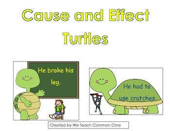 Cause and Effect Matching with Graphic Organizer Common Core
